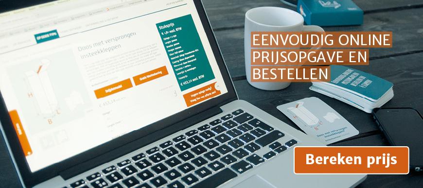 Eenvoudig online prijsopgave en bestellen